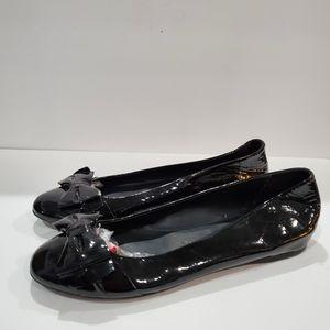 J crew black patent bow flats size 11